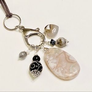 Agate Key Chain / Assemblage Necklace
